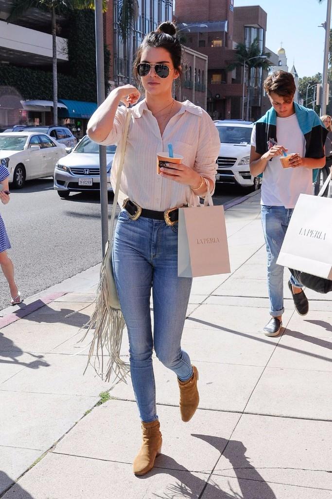 formas de usar jeans kendall jenner