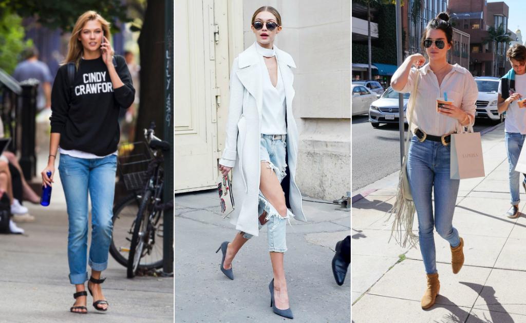 Formas de usar jeans todos los días según las súpermodelos