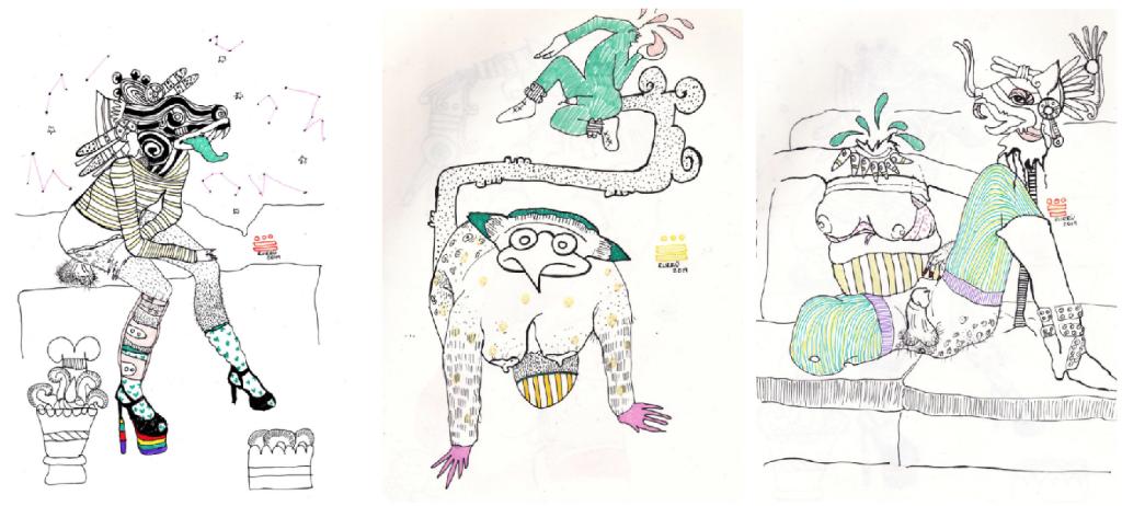 ilustraciones prehispanicas erotismo
