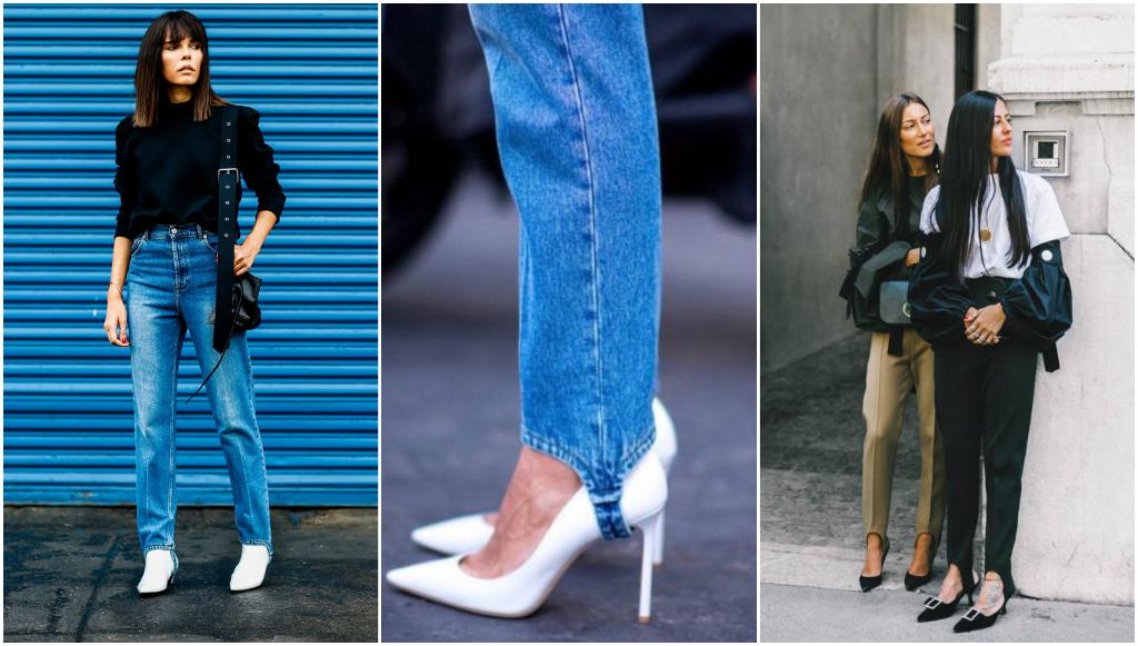 jeans con estribos look 80