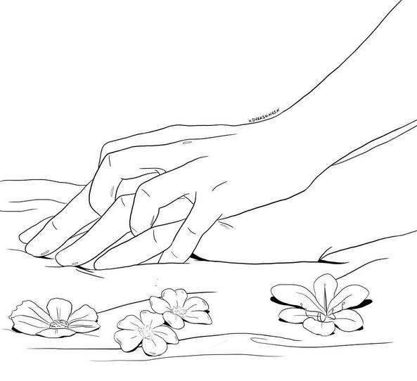 manos ilustraciones de amor