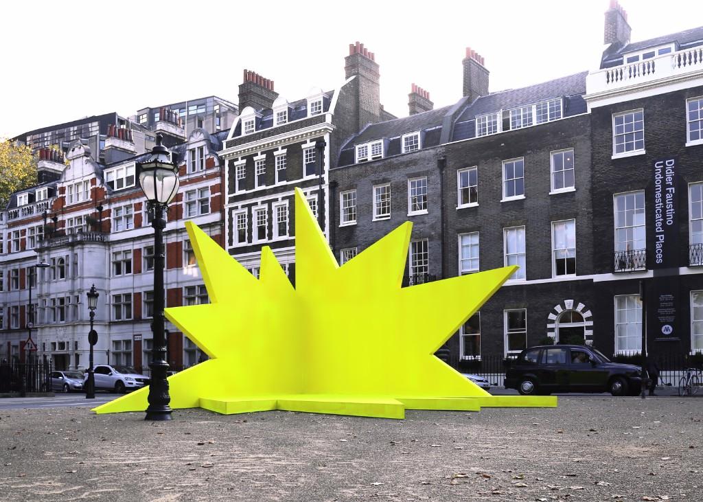 mextropoli- Didier-Faustino_Architectural-Association_yellow-spiky-stage_London_dezeen_1568