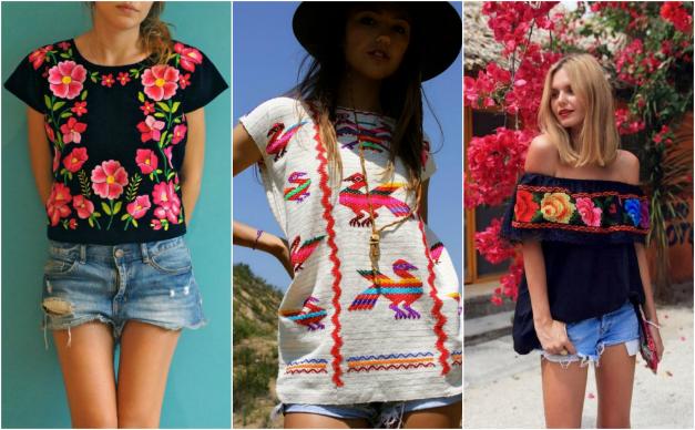 ropa con bordados mexicanos