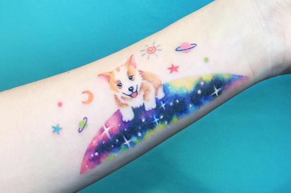 pastel-tattoo-dog