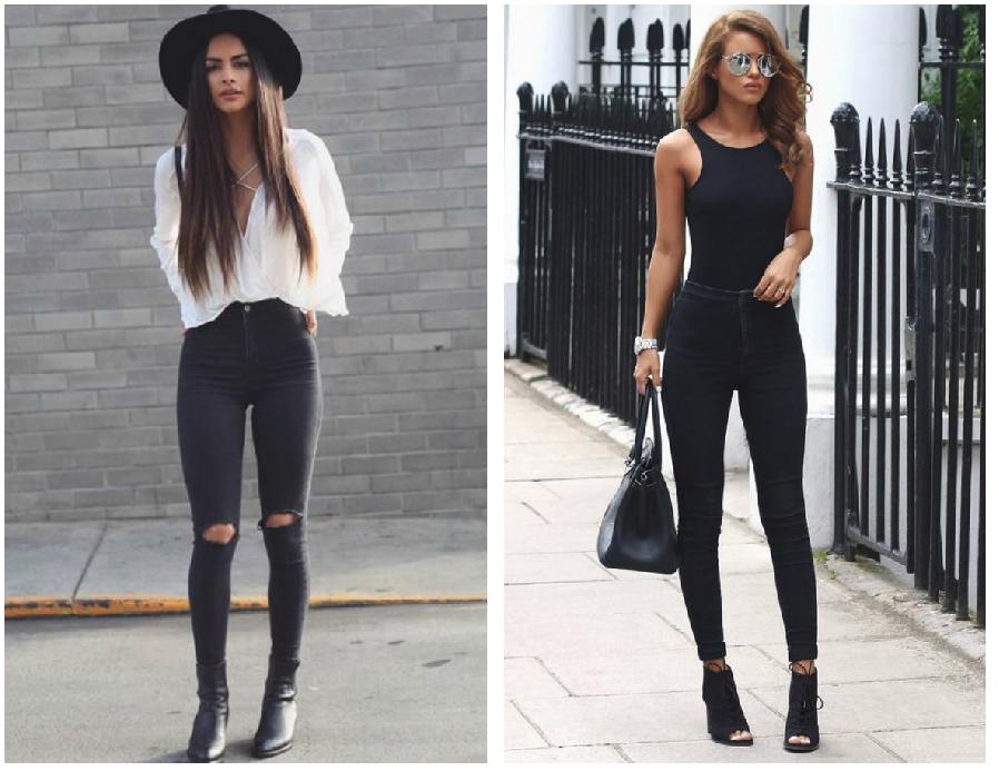 prendas basicas jeans negros