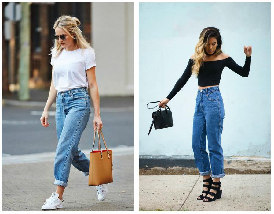 prendas basicas mom jeans