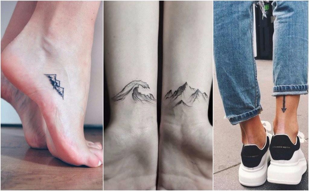 runway model tattoos ankles