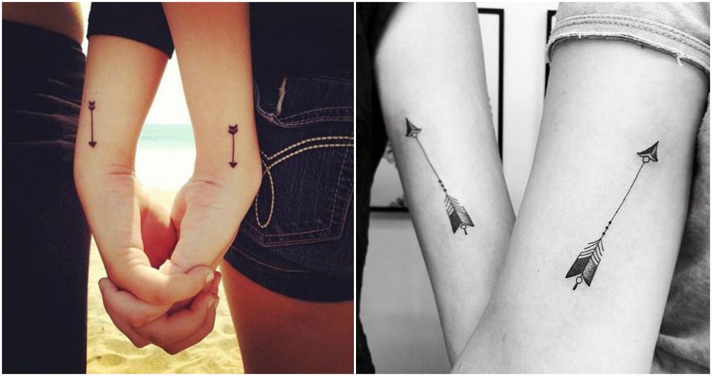 tatuaje parejas arco y flecha