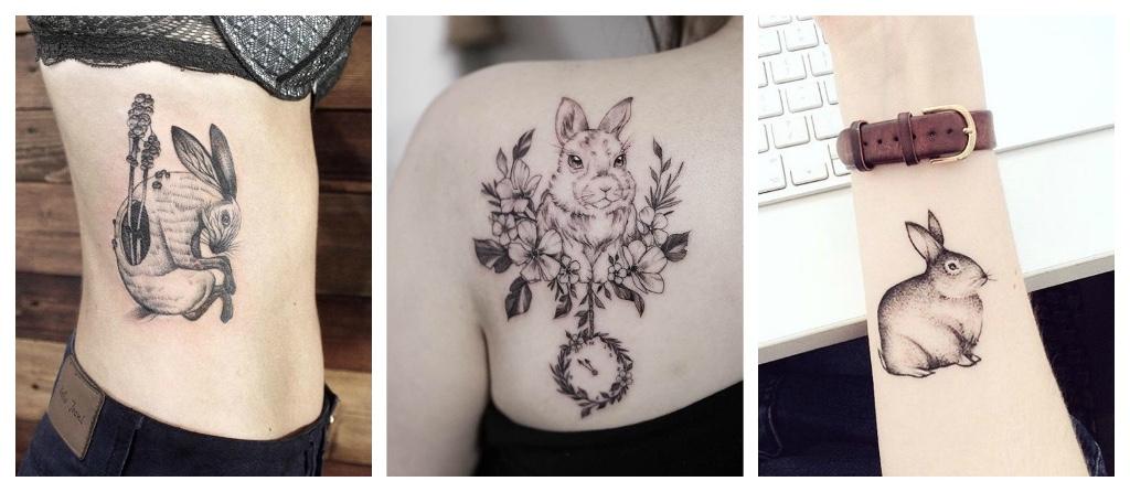 tatuajes de conejos alegria