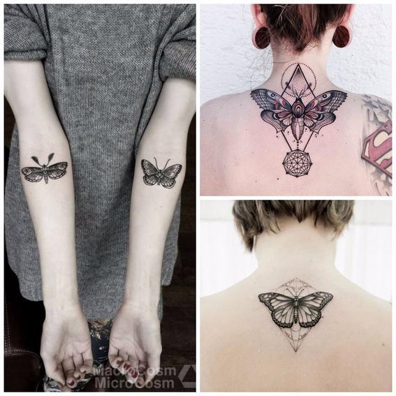 tatuajes de insecto mariposa
