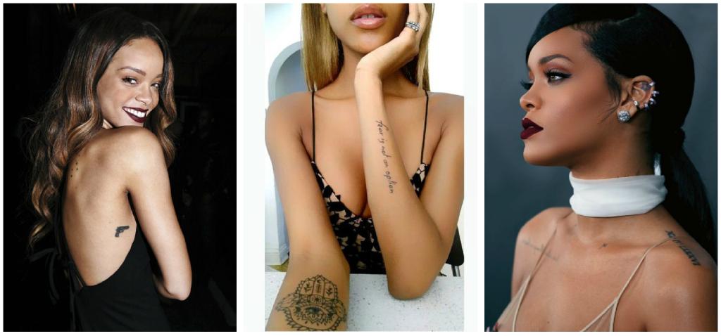 tatuajes en piel morena collage