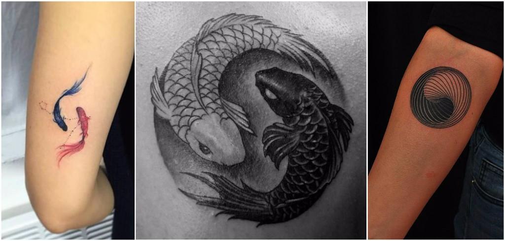 tatuajes yin yang pescados