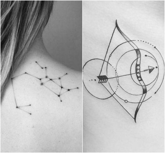 tatuajes zodiacales  sagitario