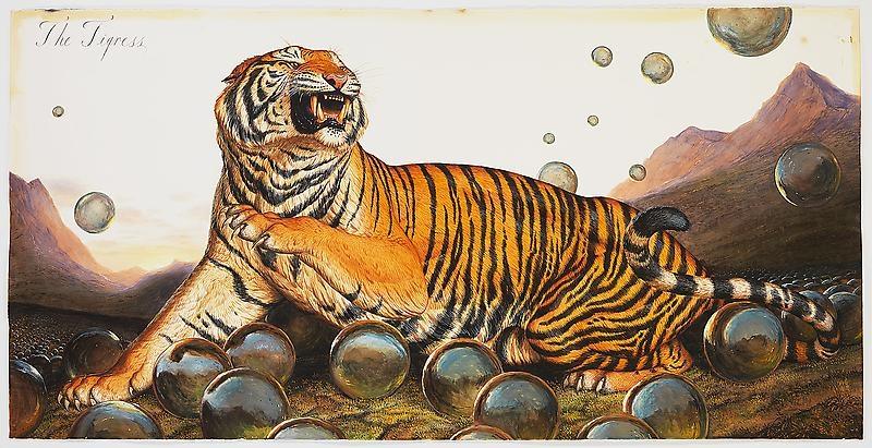 tigre leonardo dicaprio coleccion de arte