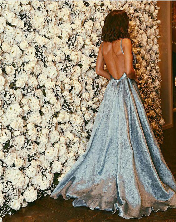 tipos de vestidos etiqueta azul