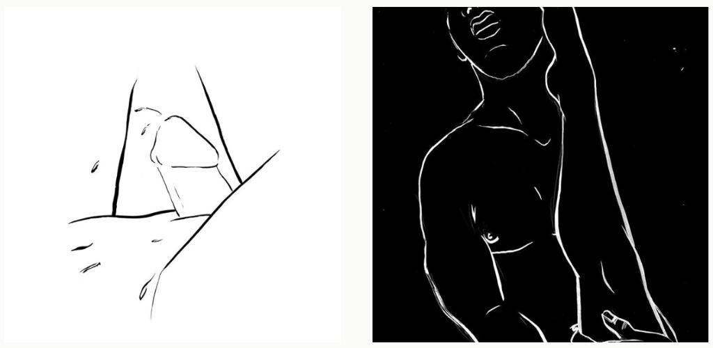 trazos sensuales ilustraciones