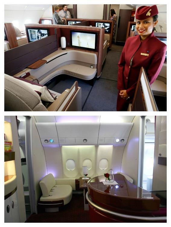 viajes de primera clase qatar