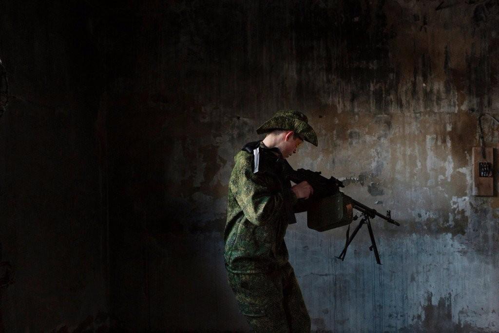 young army russian patriotic machine gun