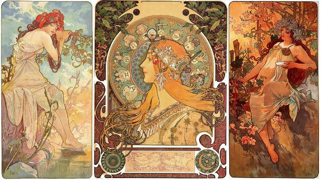 Art Noveau Women Mucha Fairy-w636-h600