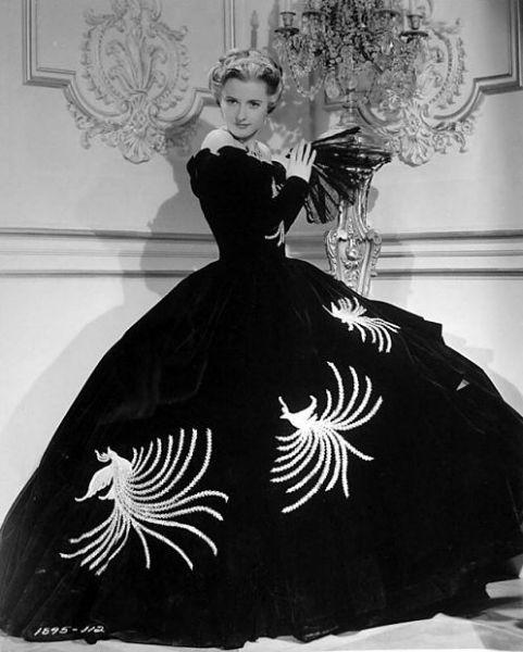 Barbara Stanwyck Femme Fatale Fashion Ball Gown-w636-h600