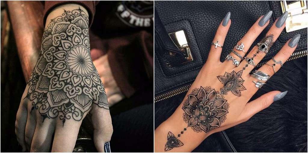 tatuajes mandalas mano