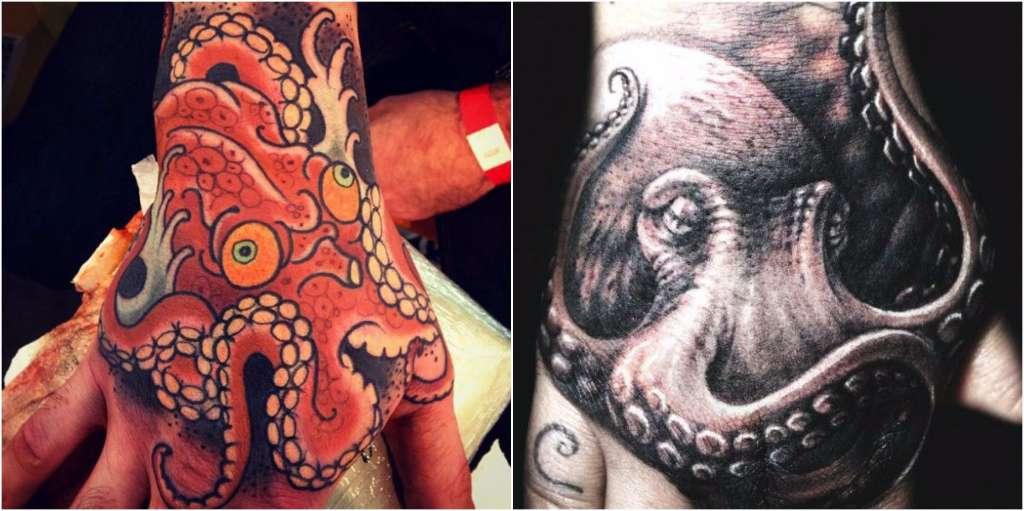 tatuajes manos pulpos