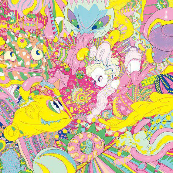 Candy Girl Doe Eyed Illustrations Rabbits-w636-h600