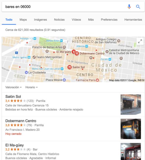 bares tips de busqueda en google