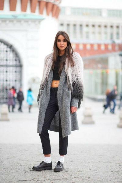 Crop Top Tips long coat-w636-h600