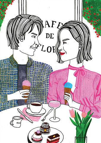 Debbie Woo Healing Broken Heart Illustrations desserts-w636-h600