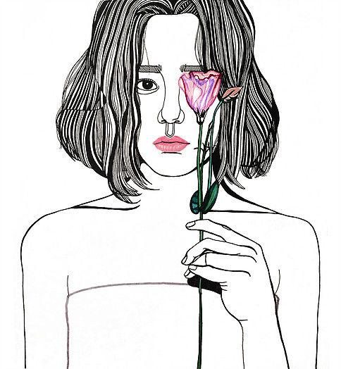Debbie Woo Healing Broken Heart Illustrations flower-w636-h600