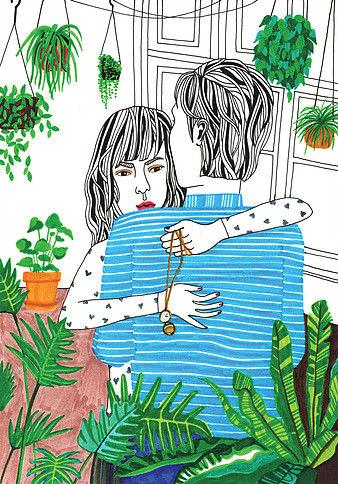 Debbie Woo Healing Broken Heart Illustrations hug-w636-h600