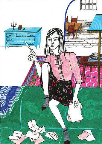 Debbie Woo Healing Broken Heart Illustrations letters-w636-h600