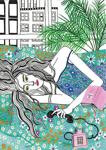 Debbie Woo Healing Broken Heart Illustrations palms-w636-h600