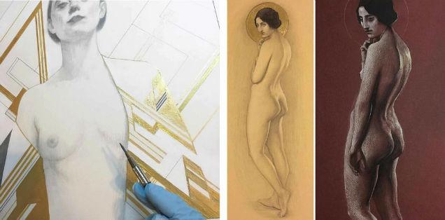 Female Sensuality Art Damian Chavez Nudity-w636-h600