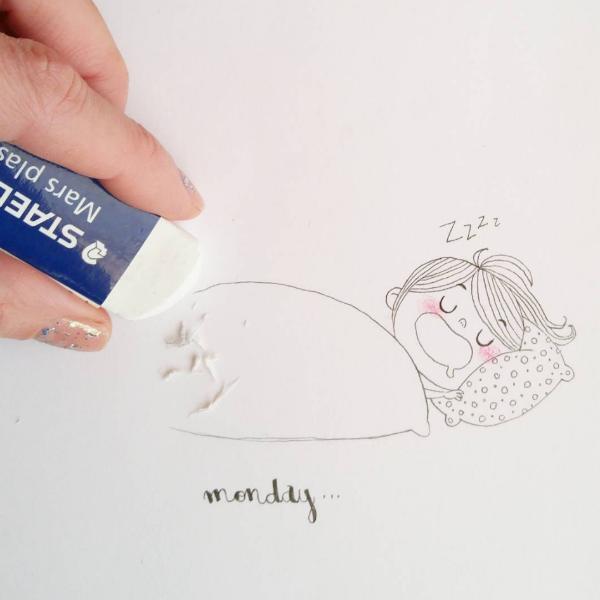 Illustrations Womanhood Marie Margo  Eraser-w636-h600