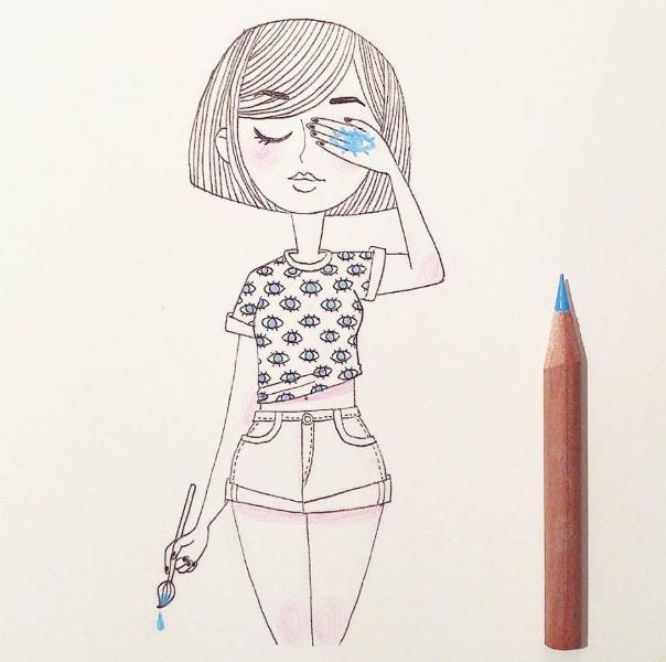 Illustrations Womanhood Marie Margo Facepalm-w636-h600
