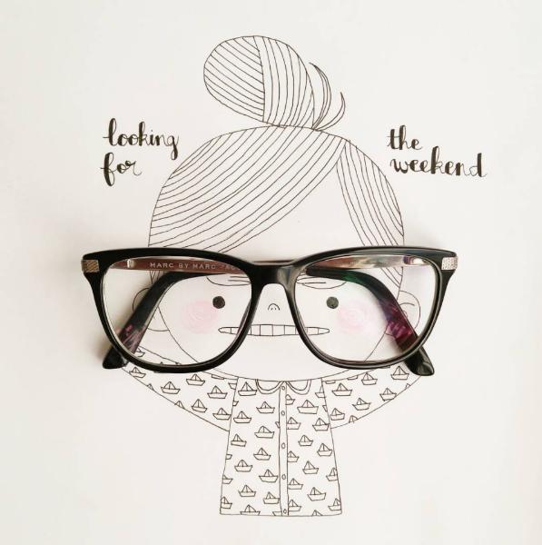 Illustrations Womanhood Marie Margo Glasses-w636-h600