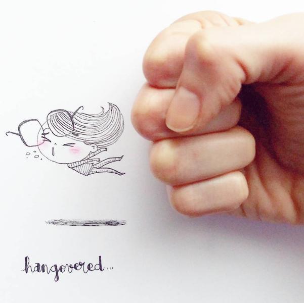 Illustrations Womanhood Marie Margo Hangover-w636-h600