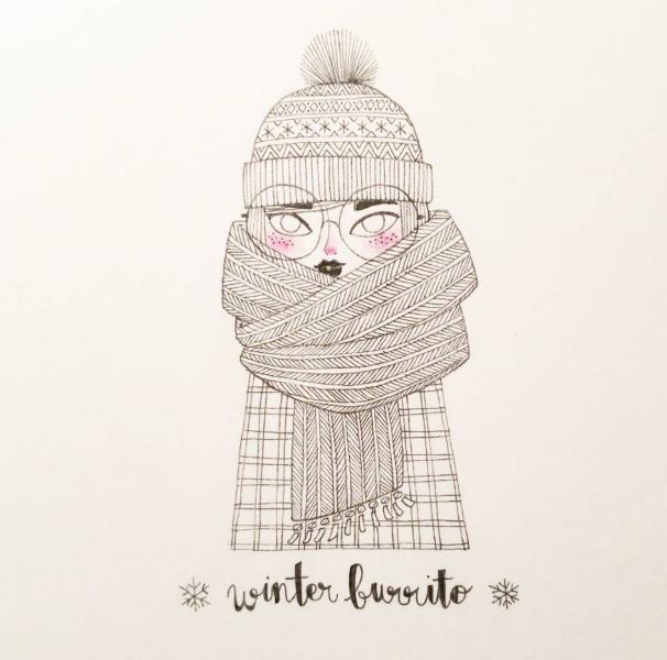Illustrations Womanhood Marie Margo  Winter-w636-h600