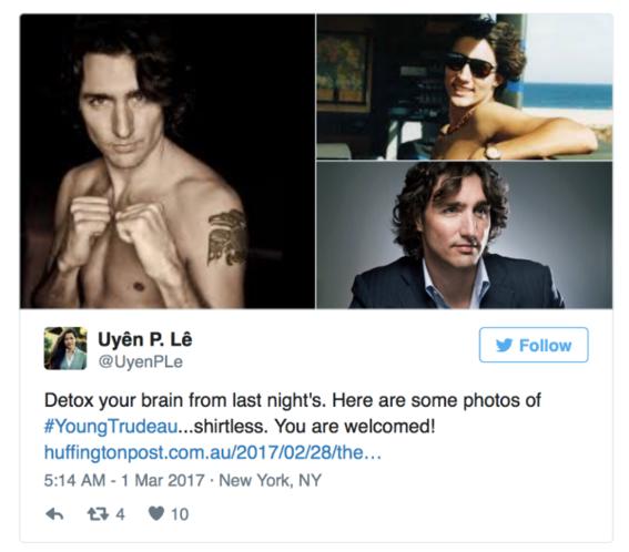 Justin Trudeau as a woman detox-w636-h600