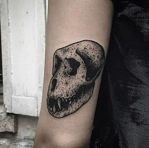 L'Encrerie original tattoos monkey skull-w636-h600