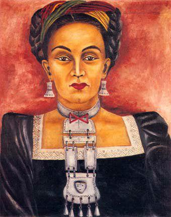 María Izquierdo Mexican painter necklace-w636-h600