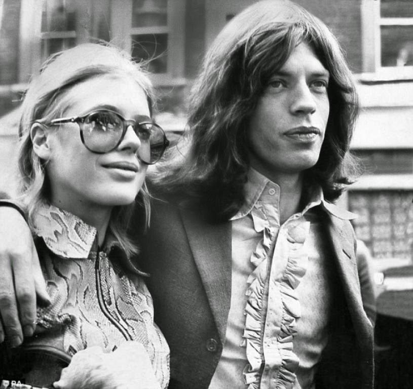 Marianne Faithfull con Mick Jagger Mick Jagger y Marianne Faithfull