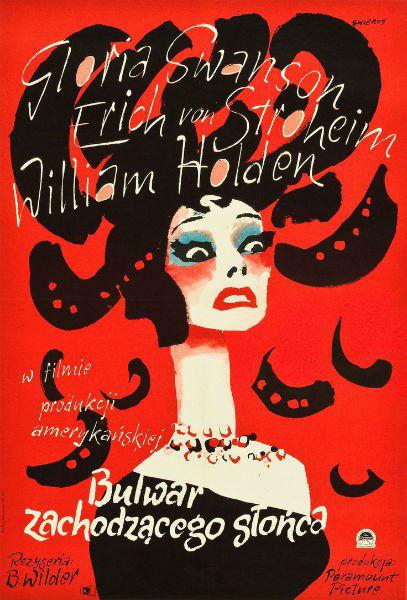 Polish Poster Art Sunset Boulevard-w636-h600