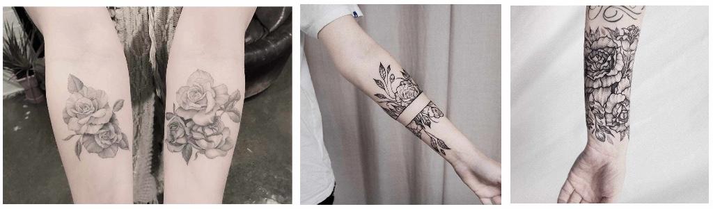tatuajes de rosas antebrazo