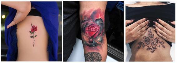 tatuajes de rosas torso, antebrazo y pecho