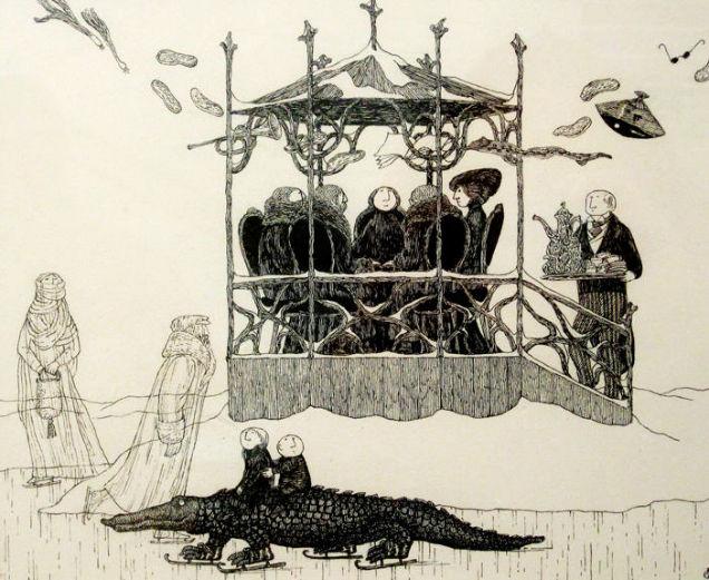Tim Burton Edward Gorey  Creepy-w636-h600