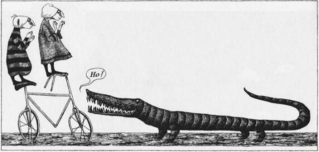 Tim Burton Edward Gorey  Crocodile-w636-h600