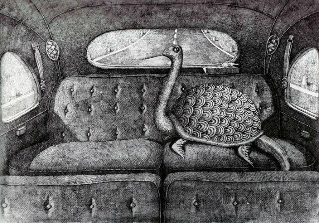 Tim Burton Edward Gorey  Turtle-w636-h600